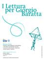 I Lettura per Giorgio Baratta